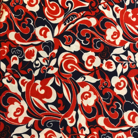 Vintage 1960s navy red white abstract fabric